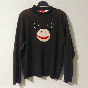 Binghamton knitting Co.Vintage Sock Monkey Sweater